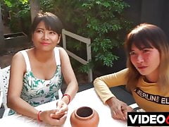 Two young Asian girls fucked in Thailand