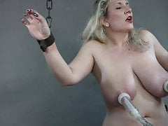 Big tits milked on the sybian